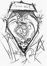 Foxy Mangle Characters Rough Cove Pirates Wanted Behind Done Everything Version Had sketch template