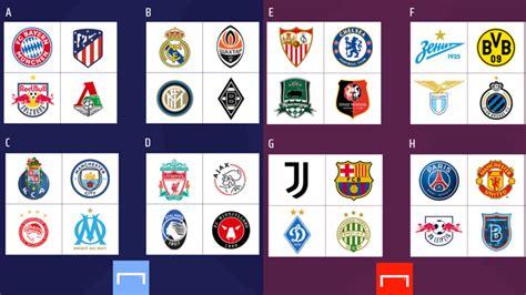 Así quedó el sorteo de la fase de grupos de la UEFA ...