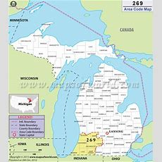 269 Area Code Map, Where Is 269 Area Code In Michigan