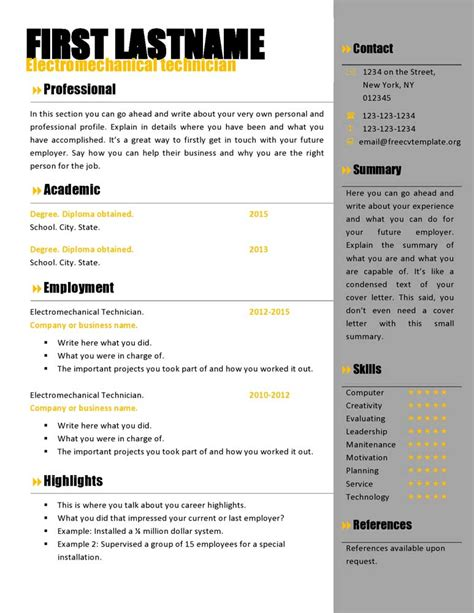 Office Resume Templates 2012 by 100 Microsoft Resume Templates 2012 Resume