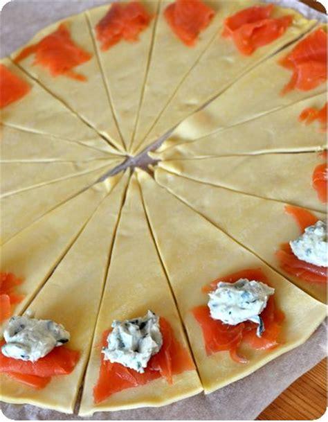 cuisiner des epinards frais croissants apéros au saumon facile et délicieux