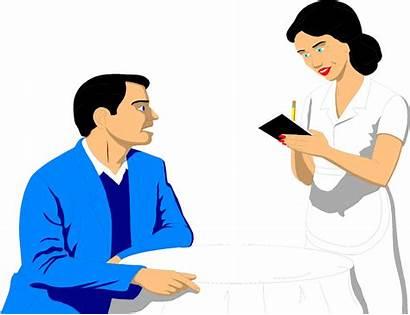 Order Clipart Waitress Taking Take Illustration Waiter