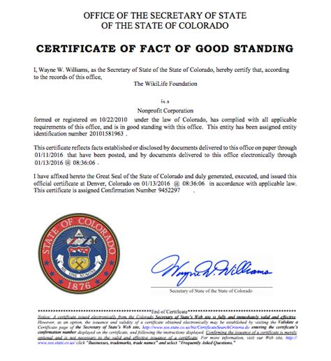 Certificate Of Good Standing by How To Get A Certificate Of Good Standing In Colorado