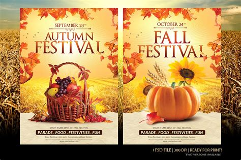 fall festival flyer template fall festival flyer templates free of 2018