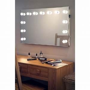 Coiffeuse Avec Led : miroir de maquillage et loge de th tre clairage del hollywood k91 taille l 600mm x l ~ Teatrodelosmanantiales.com Idées de Décoration