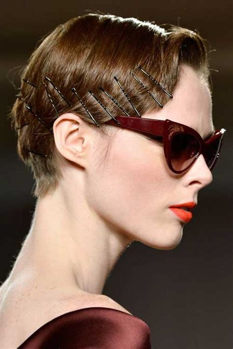Adorable Short Hairstyles with Bobby Pins