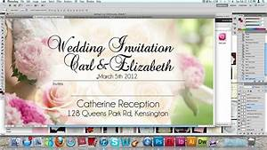 how to make a wedding invitation card usng photoshop youtube With wedding invitation card size photoshop