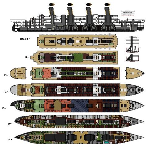 titanic deck plans discovery channel h w titanic olympic britannic ship yard minecraft project