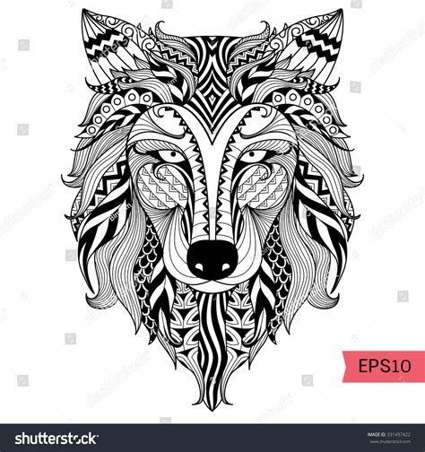 Wolf Coloring Page Animal Coloring Book Pages For Adults