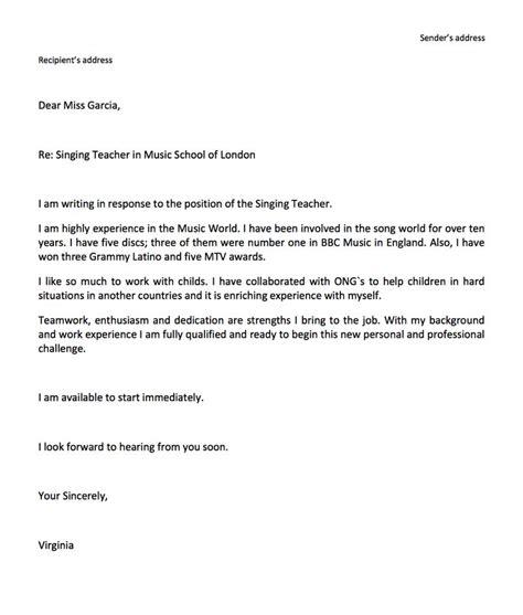 coverletterc cover letter job application email sample
