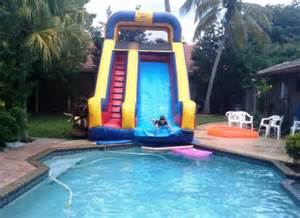 Pool House with Water Slides
