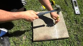 how to split a paver with a chisel