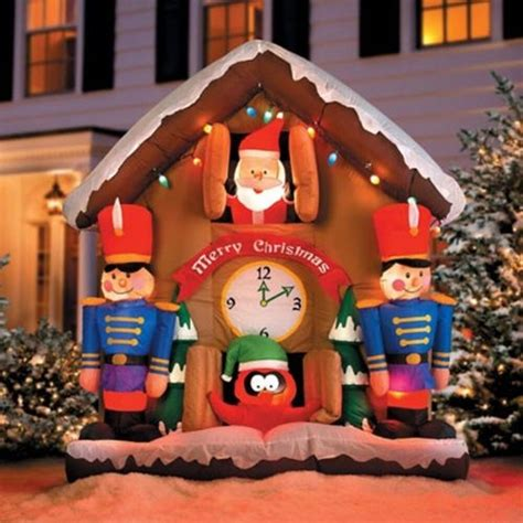 animated santa clock airblown lighted inflatable