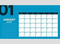 Free January Printable A4 2019 Calendar Free Calendar