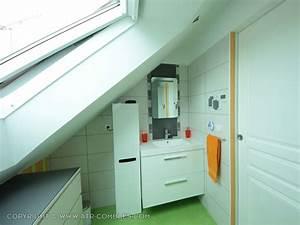 salle de bain sous les combles idees maison design With amenagement de salle de bain sous comble