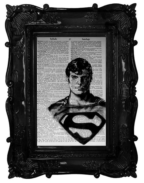 Superman: Hand painted dictionary page. This is not a