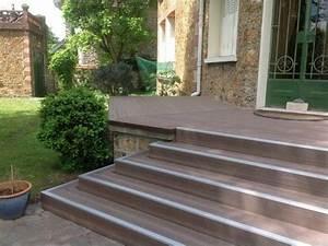 Bois Composite Pour Terrasse : lame terrasse en bois composite mdsa france marron ~ Edinachiropracticcenter.com Idées de Décoration