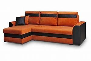 Wohnlandschaft Mit Schlaffunktion Und Bettkasten : orange 3 sitzer und weitere sofas couches g nstig online kaufen bei m bel garten ~ Eleganceandgraceweddings.com Haus und Dekorationen