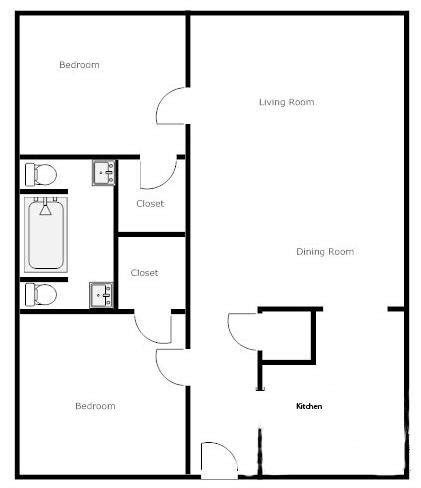 2 Bedroom 2 Bath House Plans by Unique Floor Plans For Two Bedroom Homes New Home Plans