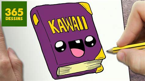 comment dessiner livre kawaii etape par etape dessins