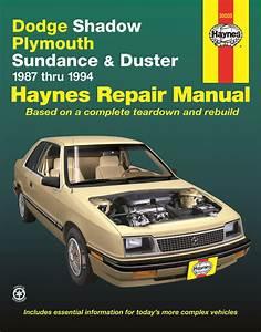 Dodge Shadow  Plymouth Sundance  U0026 Duster  87