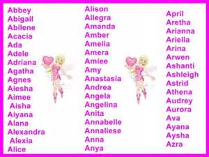 Girl Names That Start with B