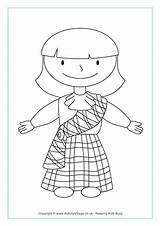 Scottish Coloring Pages Colouring Activities Burns Night Sheets Tartan Crafts Printable Flag Dance Traditional Terrier Toddlers Flags Activityvillage St Country sketch template