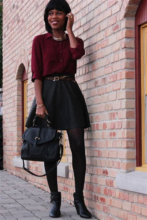 20 Style Tips On How To Wear Skater Skirts In The Winter - Gurl.com | Gurl.com