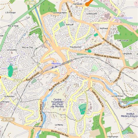 Mairie Ville De Plan De Plan Morlaix Carte Ville Morlaix