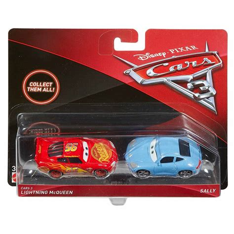 cars sally toy disney 2017 cars 3 diecast vehicle 2 pack lighting mcqueen