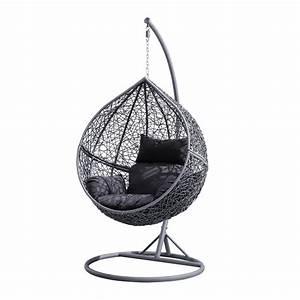 Fauteuil De Jardin Suspendu : fauteuil suspendu escamotable en r sine tress e forme uf ~ Teatrodelosmanantiales.com Idées de Décoration