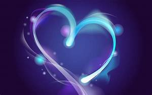 Heart on a blue background wallpapers and images ...