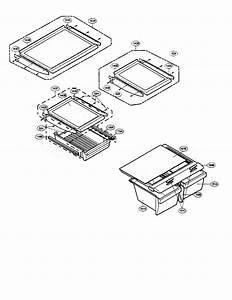 Refrigerator Shelves And Trays Diagram  U0026 Parts List For