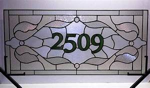 custom made stained glass window panel traditional With stained glass letters and numbers