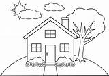 Coloring Buildings Pages Building Popular sketch template