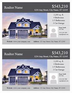 real estate flyer template for word With real estate advertisement template