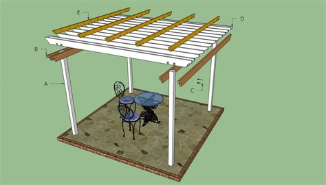 attached pergola plans howtospecialist how pergola plans free howtospecialist how to build step