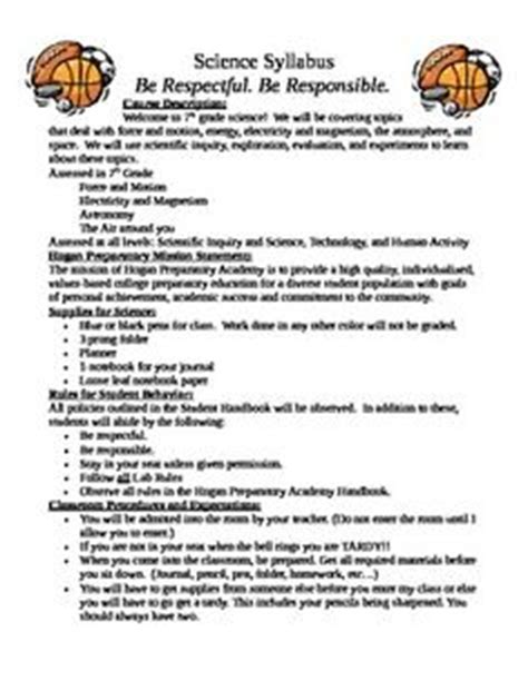 middle school syllabus template 15 awesome syllabus template for middle school images pinteres