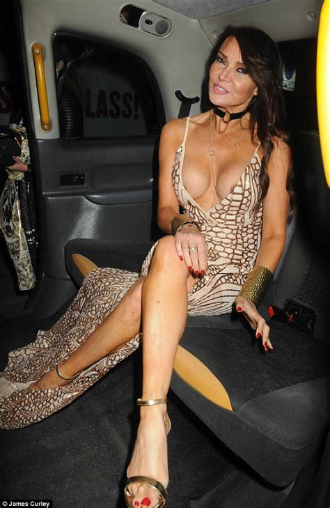 Lizzie Cundy Suffers A Major Wardrobe Malfunction In Low