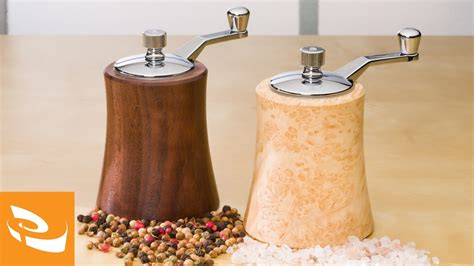 artisan crank top salt  pepper mills woodturning