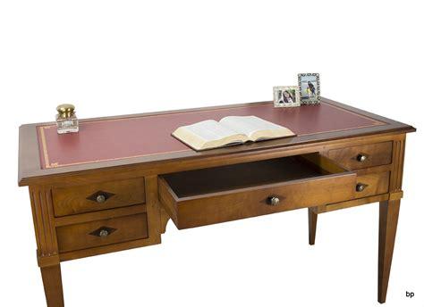 bureau merisier massif bureau 5 tiroirs en merisier massif de style louis