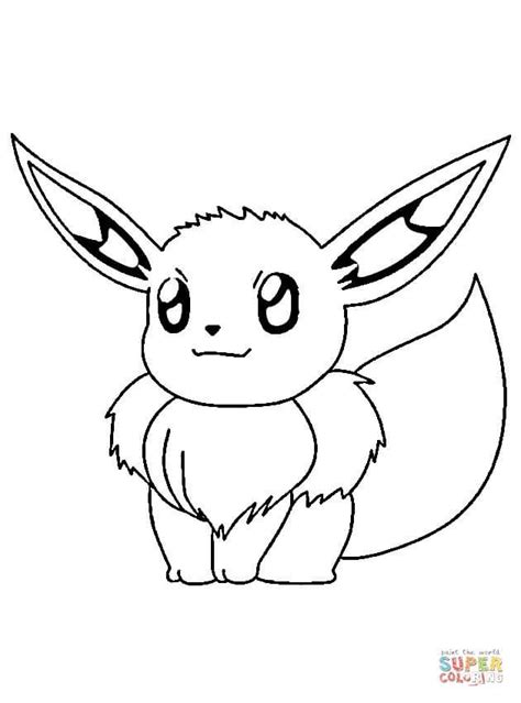 Eevee | Super Coloring | Pokemon coloring pages