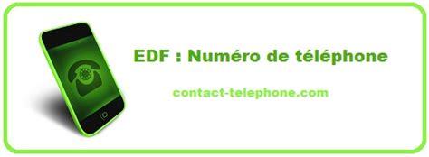 edf contact t 233 l 233 phone adresse postale web urgence