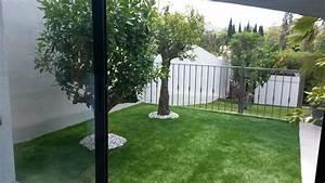 Gazon Synthétique Moins Cher : am nagement de jardin avec pose de gazon synth tique sur ~ Edinachiropracticcenter.com Idées de Décoration