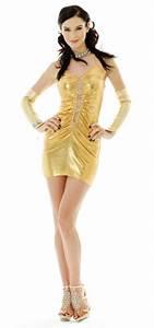 Gold Metallic Party Dress Short Dresses Neve Bianca