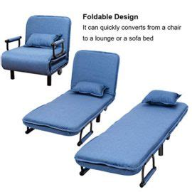 Sofa Bed With Wheels by Casart Blue 2 In 1 Sofa Bed Folding Futon Chair W Pillow