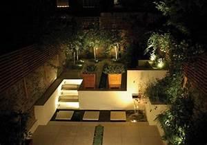 beleuchtung garten terrasse einbauleuchten led wasserspiel With led beleuchtung terrasse