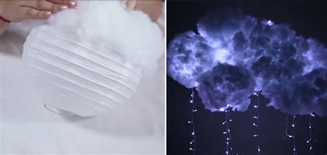diy cloud light she uses glue gun and cotton to create this beautiful