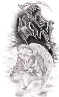 Angel of Death Tattoo Sketch
