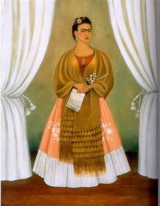 "Inspired by Frida Kahlo's ""Self-Portrait dedicated to Leon ..."